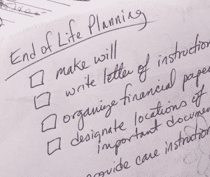 end of life checklist