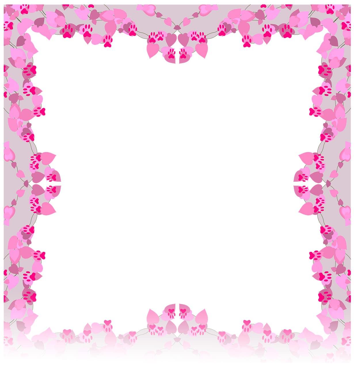Pink Paw Frame
